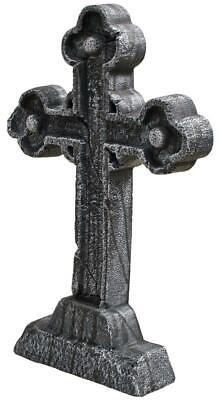Life Size CELTIC CROSS Tombstone Cemetery Halloween Prop Outdoor Decor - Celtic Halloween Decorations