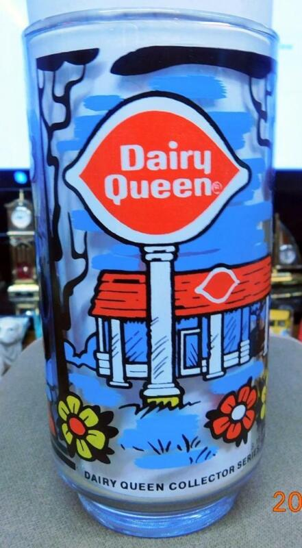 Dairy Queen Collector Series 1976 Drinking Glass Bright and Colorful
