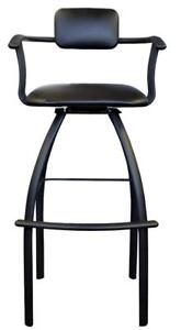 "6 pcs Extra Tall Swivel Bar Stools in Black 34"" Seat Height for Restaurants and High Bar Counters"