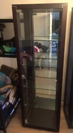 Italian DISPLAY CABINETS. Pair of two beautiful glass cabinets.