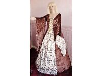 NEW Ladies Medieval Theatre Handmade Fancy dress costume 14 16 18 (children's sizes available too)