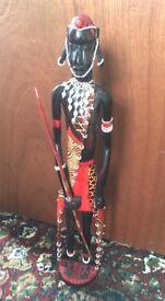 Tribal warrier figurine