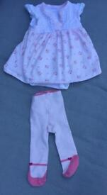 Girls mother care summer outfit age 0-3 months