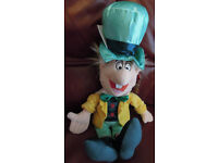 Disney Store Large Mad Hatter Exclusive Plush / Soft Toy