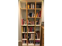 John Lewis Bookshelf (2014) White and Light Brown Wood - great condition