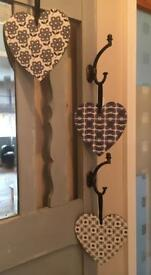 Orla kiely Hanging wood hearts