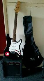 Electric Guitar, With an Amp and Gig bag (PRICE DROPPED NOW TO £25 FOR A QUICK SALE, NO OFFERS)