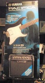NEW BOXED YAMAHA PACIFICA 012 ELECTRIC GUITAR & LINE6 SPIDER IV 15 WATT AMPLIFIER PACKAGE