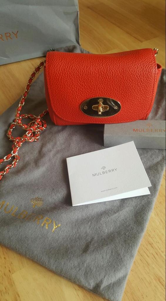 3786e5a126 ... best price brand new mulberry mini lily bag in coral e3612 5cb9f