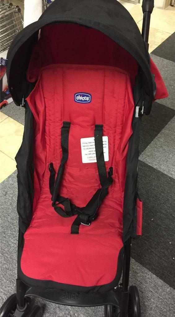 Chicco Echo Stroller Ibiza Red Brand New Pushchair & Raincover RRP£70