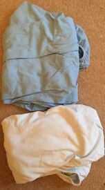 Crib/ cotbed fitted sheets x2