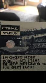 ROBBIE WILLIAMS MANCHESTER 4 (or sets of 2) TICKETS