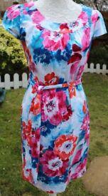 Et Vous floral dress by Matalan UK12 with belt