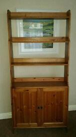 leksvik pine bookcase with doors
