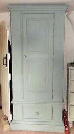 Pine Wardrobe chalk painted blue