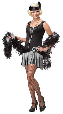 1920's Fashion Flapper Bettie Boop Teen Girls Costume - 1920 Costumes