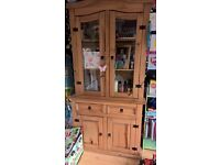 mexican pine display unit and cabinet