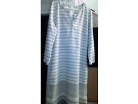 Sorry about the photos! Marks and Spencers dress / tunic. Grey / white. Size 12.