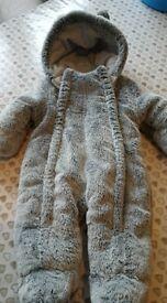 George baby snow suit pram suit 0-3 mths