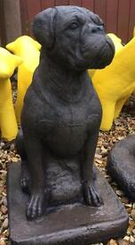 Stone garden Boxer dog 30 inches tall be quick