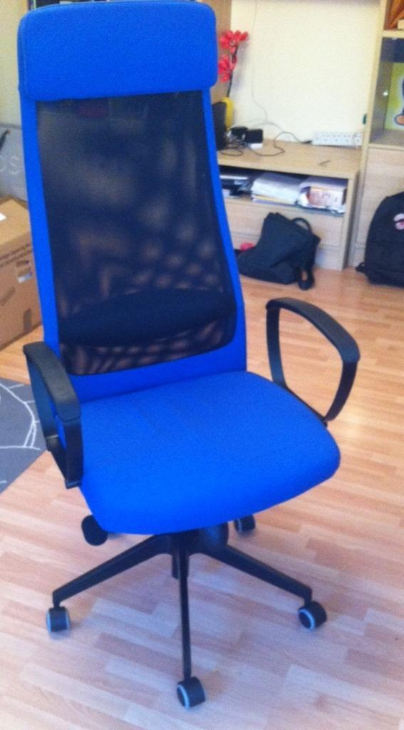 Blue Ikea Markus Swivel Office Chair Perfect Conditon In