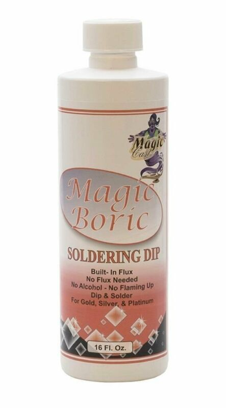 Magic Boric 16 Oz Bottle Jewelry Gold Silver & Platinum Metal Soldering Flux Dip