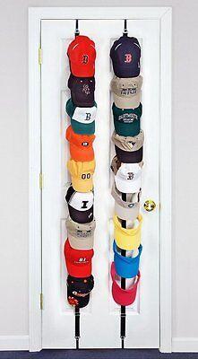 CapRack 18 Baseball Cap Hat Holder Rack Organizer Storage Door Closet Hanger NEW