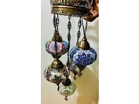 Celling Turkish lamp set of 5