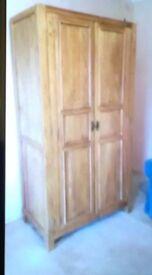 Solid oak wooden wardrobe for sale