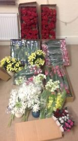 Joblot Artificial flowers 164 items in total, all NEW with tags