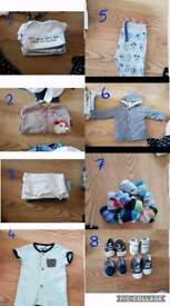 Baby clothes. Boys. 0-3 months. 3-6 months. 6-9 months