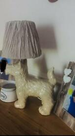 NEXT Dog Table lamp, schnauzer, Scottie