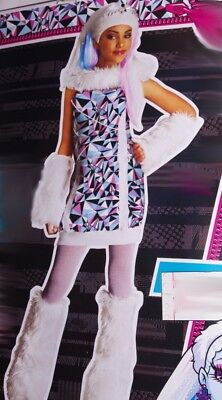 Girls Monster High ABBEY BOMINABLE Eskimo Halloween Costume Inuit M 10 Lg 12 NEW](Eskimo Halloween Costume Girl)