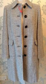 Women's Clothing Houndstooth Pattern Coat Size 14 BNWT