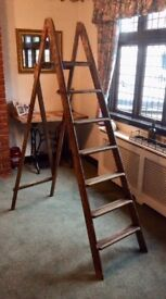 Vintage Wooden Step Ladders - Wedding Display - Shabby Chic Project, Etc