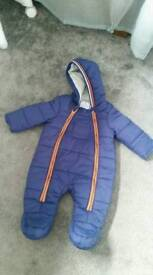 BNWOT 3-6m snowsuit