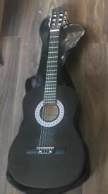 Stretton and Payne 3/4 guitar gloss black