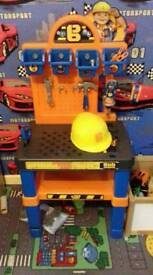 Bob the builder work bench and tools