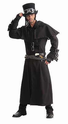 Steampunk Duster Costume Coat Long Black Victorian Goth 66150](Costume Duster Coat)