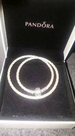 Pandora double strap bracelet like new