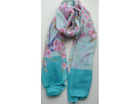 LADIES WOMEN'S FLORAL BLOSSOMING FLOWERS PRINT SCARF