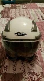 Nitro open face crash helmet