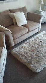 Taupe colour sofa & matching chair