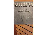 12 Slatwall picture frame/jewellery display hooks