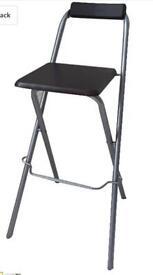 Folding Breakfast Kitchen Bar Stool Furniture Compact High Chair Portable 75cm