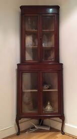 Must sell, Antique corner cupboard, mahogany high quality