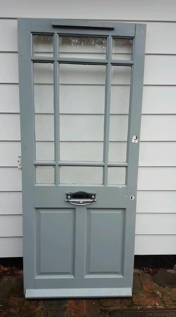 External Glass and Wooden Front Door