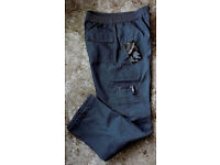 Mens Winter Thermal Lined Grey Cargo Style Trousers size 32 waist BNWT will post