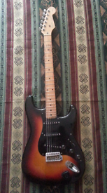 Fender squier stratocaster silver series
