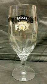 "6 ""Firkin Fox"" Pint Glasses."